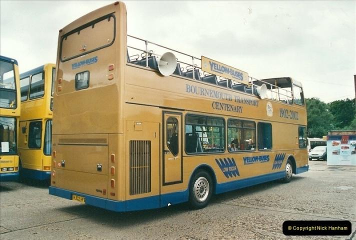 2002-06-30. 100 Years of Yellow Buses Open Day, Mallard Road Depot. Bournemouth, Dorset.    (27)042