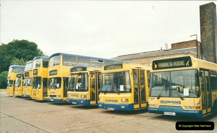 2002-06-30. 100 Years of Yellow Buses Open Day, Mallard Road Depot. Bournemouth, Dorset.    (29)044
