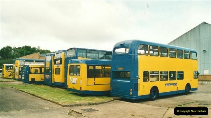 2002-06-30. 100 Years of Yellow Buses Open Day, Mallard Road Depot. Bournemouth, Dorset.    (30)045