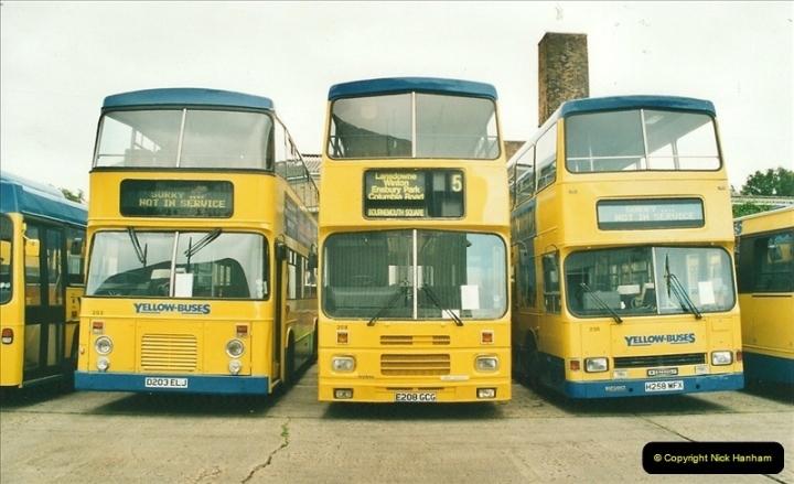2002-06-30. 100 Years of Yellow Buses Open Day, Mallard Road Depot. Bournemouth, Dorset.    (32)047