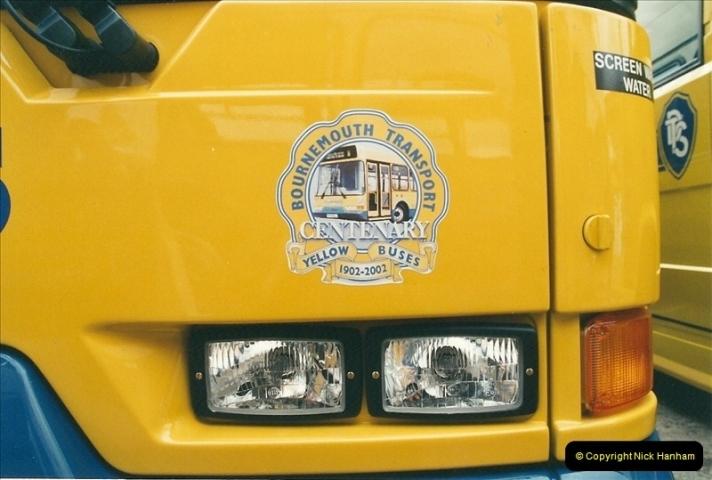 2002-06-30. 100 Years of Yellow Buses Open Day, Mallard Road Depot. Bournemouth, Dorset.    (36)051