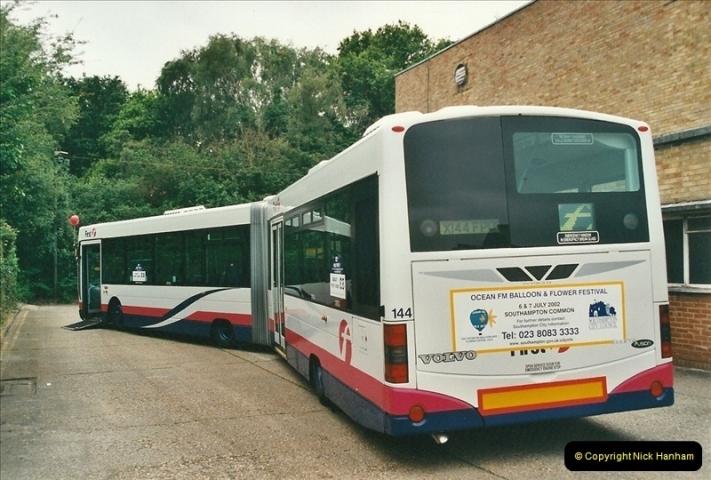 2002-06-30. 100 Years of Yellow Buses Open Day, Mallard Road Depot. Bournemouth, Dorset.    (44)059