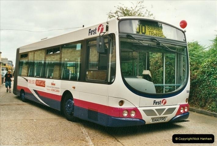 2002-06-30. 100 Years of Yellow Buses Open Day, Mallard Road Depot. Bournemouth, Dorset.    (46)061