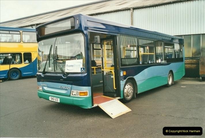 2002-06-30. 100 Years of Yellow Buses Open Day, Mallard Road Depot. Bournemouth, Dorset.    (56)071