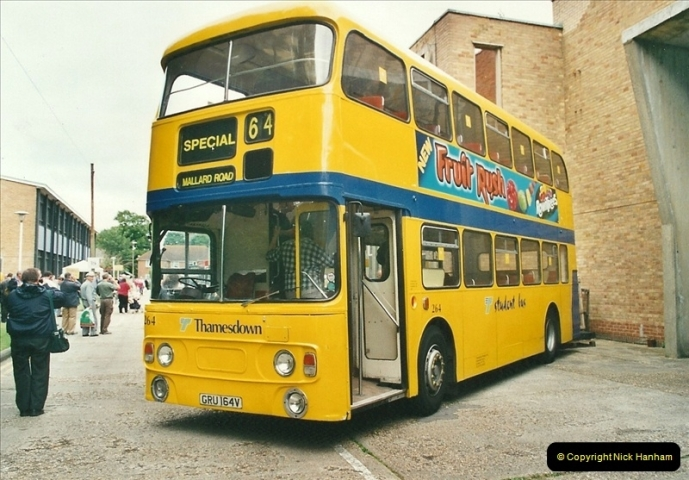 2002-06-30. 100 Years of Yellow Buses Open Day, Mallard Road Depot. Bournemouth, Dorset.    (65)080