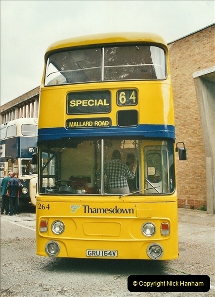 2002-06-30. 100 Years of Yellow Buses Open Day, Mallard Road Depot. Bournemouth, Dorset.    (66)081