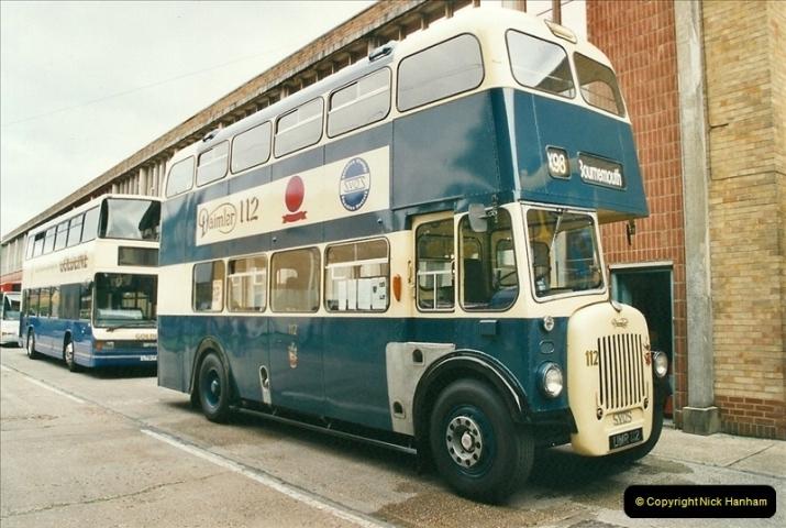 2002-06-30. 100 Years of Yellow Buses Open Day, Mallard Road Depot. Bournemouth, Dorset.    (67)082