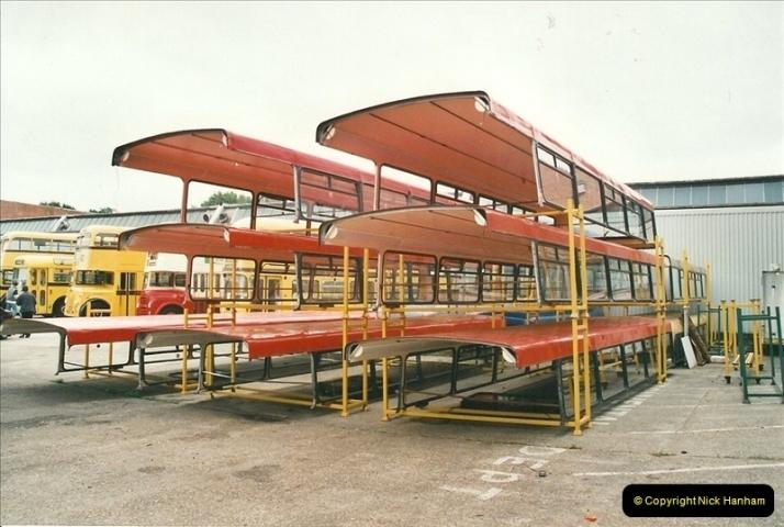 2002-06-30. 100 Years of Yellow Buses Open Day, Mallard Road Depot. Bournemouth, Dorset.    (7)022