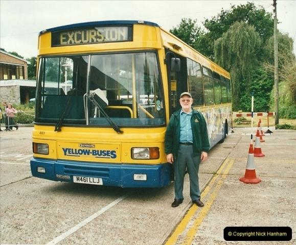 2002-06-30. 100 Years of Yellow Buses Open Day, Mallard Road Depot. Bournemouth, Dorset.    (74)089
