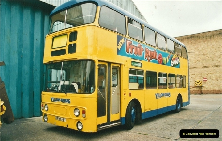 2002-06-30. 100 Years of Yellow Buses Open Day, Mallard Road Depot. Bournemouth, Dorset.    (85)100