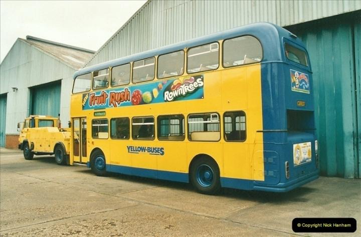 2002-06-30. 100 Years of Yellow Buses Open Day, Mallard Road Depot. Bournemouth, Dorset.    (86)101
