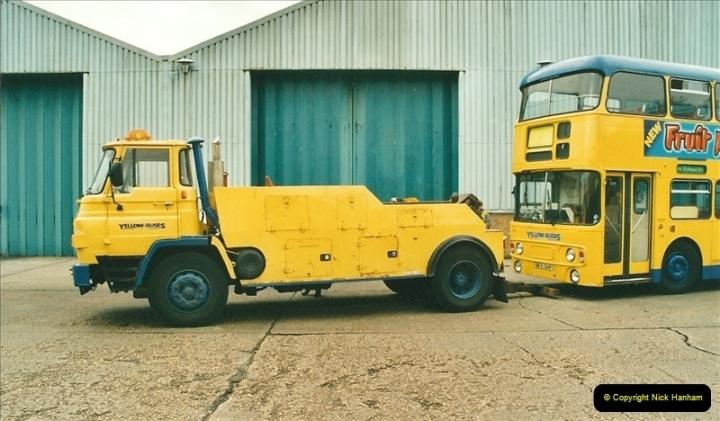 2002-06-30. 100 Years of Yellow Buses Open Day, Mallard Road Depot. Bournemouth, Dorset.    (88)103