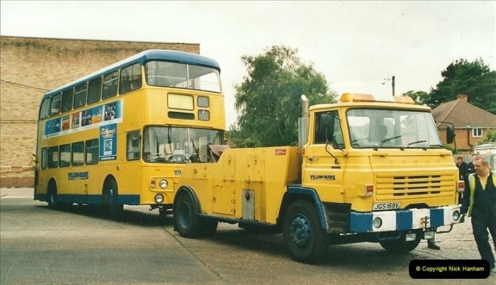 2002-06-30. 100 Years of Yellow Buses Open Day, Mallard Road Depot. Bournemouth, Dorset.    (93)108