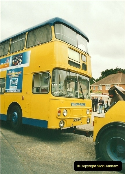2002-06-30. 100 Years of Yellow Buses Open Day, Mallard Road Depot. Bournemouth, Dorset.    (94)109