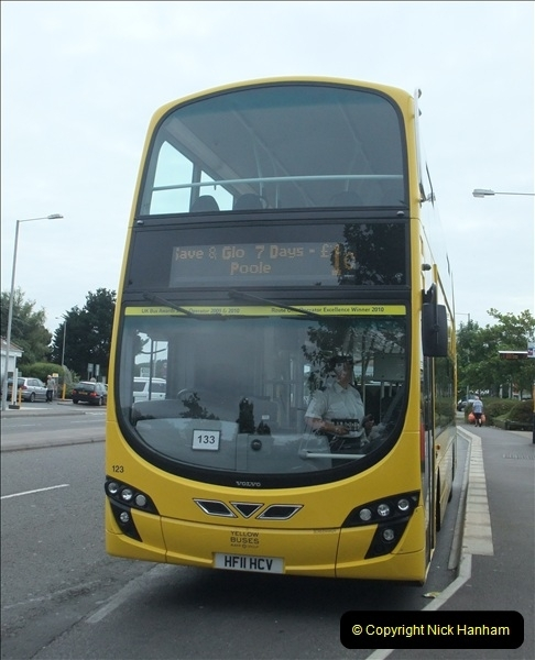 2011-08-30 Somerford, Christchurch, Dorset. New RATP Yellow Buses Livery.  (4)191