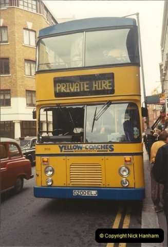 Yellow Buses Bournemouth, Dorset. 1963 to  2011. Picture 008199