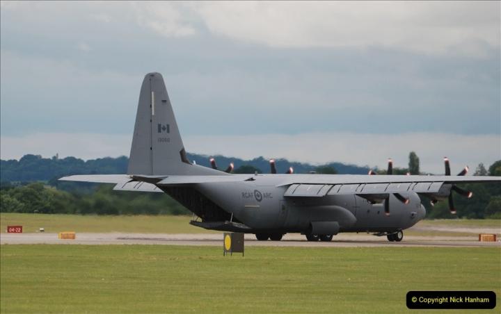 2019-07-13 Yeovilton Air Day. (428) Plane reversing along the runway.