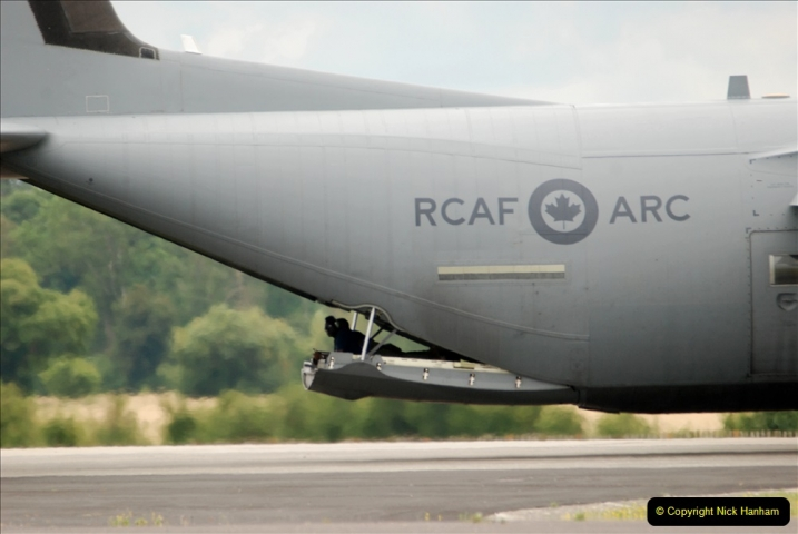 2019-07-13 Yeovilton Air Day. (430) Plane reversing along the runway.