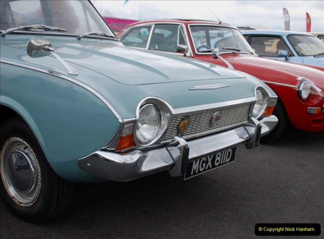 2019-07-13 Yeovilton Air Day. (62)  Your Host had a 1965 Cregistration Ford Corsair.