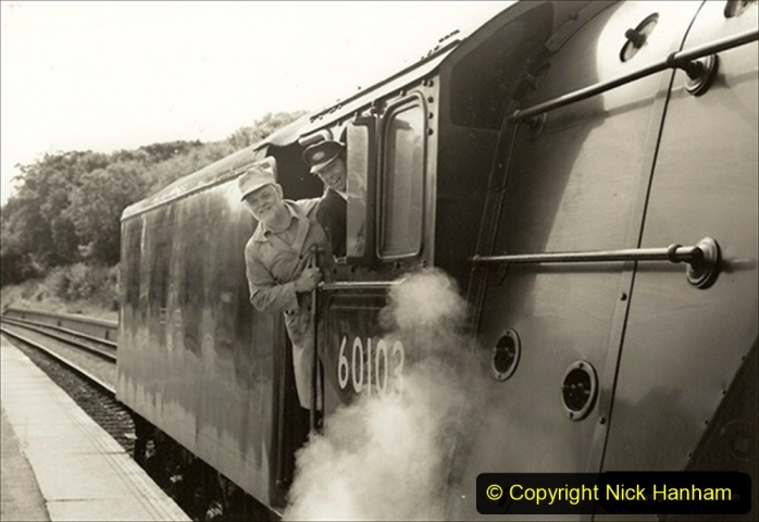 1994-07-16 Flying Scotsman comes to Swanage. (11) Your Host conducting gauging trials on FS. 011