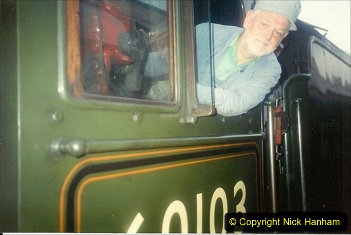 1994-07-16 Flying Scotsman comes to Swanage. (16) Your Host driving a Saturday Wessex Belle. 016