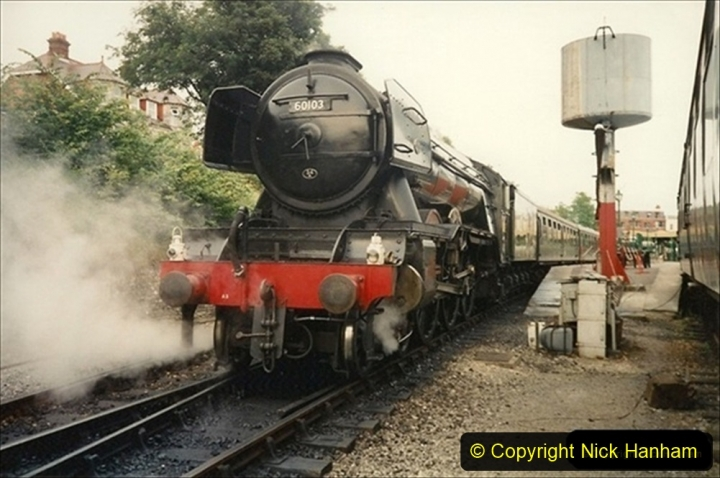 1994-07-18 to 22 Your Host spends a week driving Flying Scotsman.  (10) 030