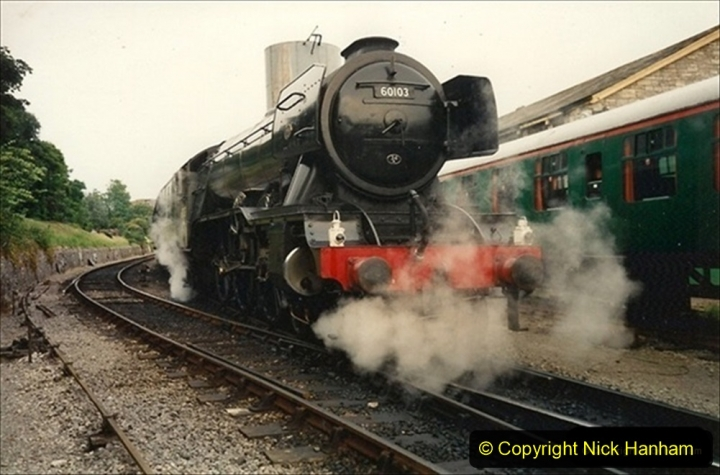 1994-07-18 to 22 Your Host spends a week driving Flying Scotsman.  (11) 031