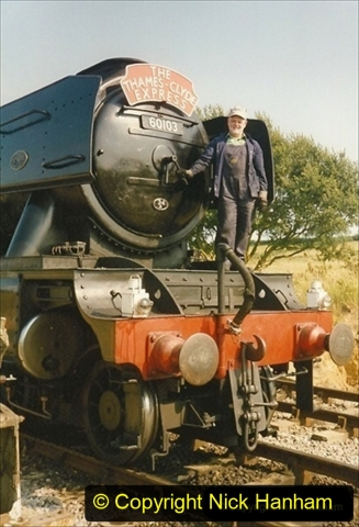 1994-07-18 to 22 Your Host spends a week driving Flying Scotsman.  (14) Your Host. 034