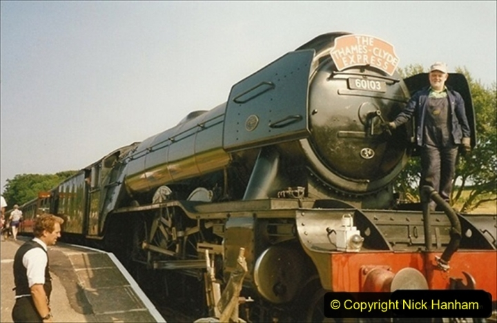 1994-07-18 to 22 Your Host spends a week driving Flying Scotsman.  (15) Your Host. 035