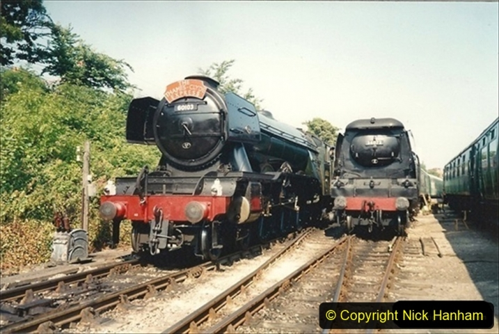 1994-07-18 to 22 Your Host spends a week driving Flying Scotsman.  (3) 023