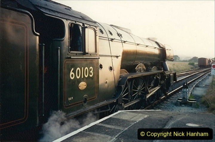 1994-07-18 to 22 Your Host spends a week driving Flying Scotsman.  (9) 029