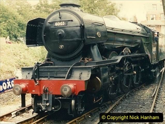 1994-08-08 Your Host driving Flying Scotsman. (3) 040