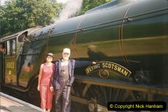 1994-07-16 Flying Scotsman comes to Swanage. (13) Your Host and Wife. 013