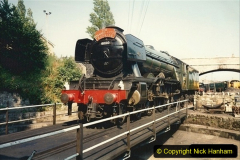 1994-07-18 to 22 Your Host spends a week driving Flying Scotsman.  (1) The Thames Clyde Express head board belongs to your Host. 021