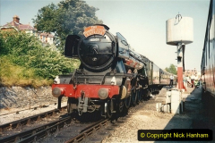 1994-07-18 to 22 Your Host spends a week driving Flying Scotsman.  (4) 024