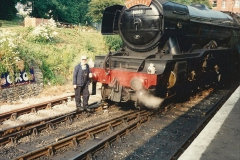 1994-07-18 to 22 Your Host spends a week driving Flying Scotsman.  (7) Your Host. 027