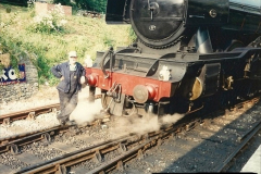 1994-07-18 to 22 Your Host spends a week driving Flying Scotsman.  (8) Your Host. 028