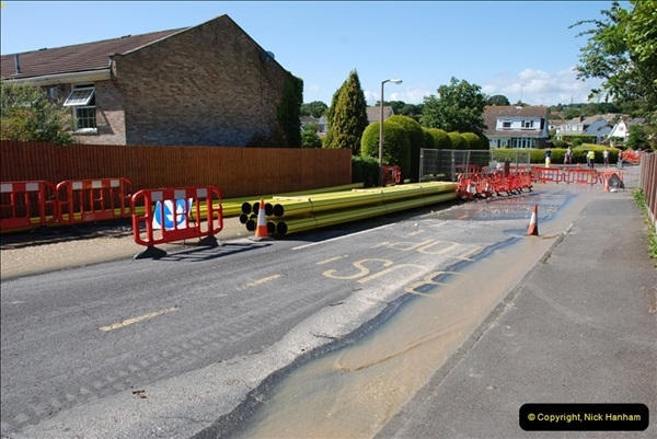2012-06-18 Water Main cut by Gas people.  (2)02