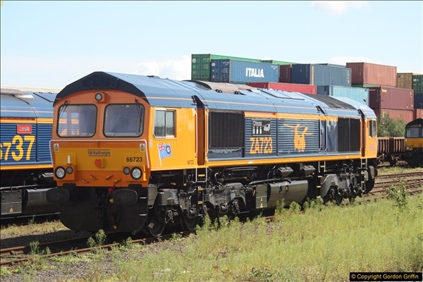 2017-08-15 Livery change to 66723 at Eastleigh.61