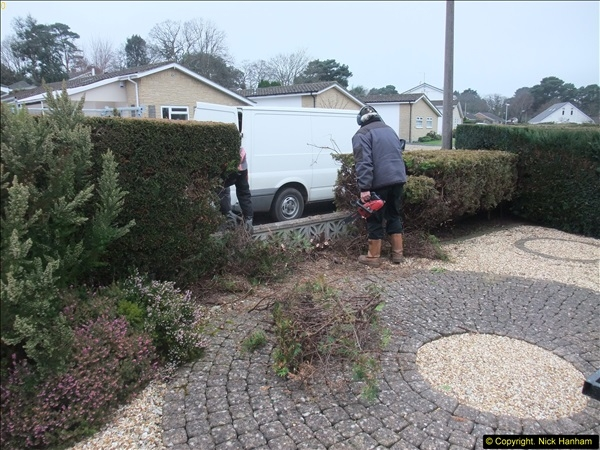 2015-03-09 Front and back garden alterations start.  (6)086