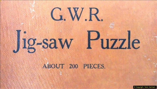 2014-02-15. A proper jigsaw puzzle issued by the GWR.  (3)215