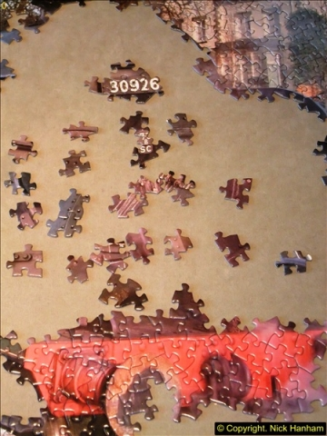 2014-12-29 to 2015-01-10 Very difficult with 1000 different shaped pieces.  (12)031