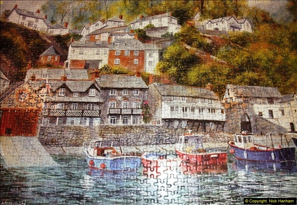 2015-08-04 The two X 1000 piece puzzles of Clovelly completed (12)151