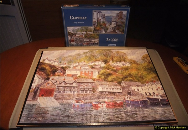 2015-08-04 The two X 1000 piece puzzles of Clovelly completed (13)152