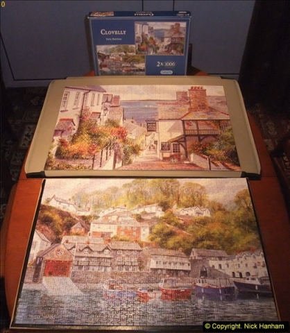 2015-08-04 The two X 1000 piece puzzles of Clovelly completed (19)158