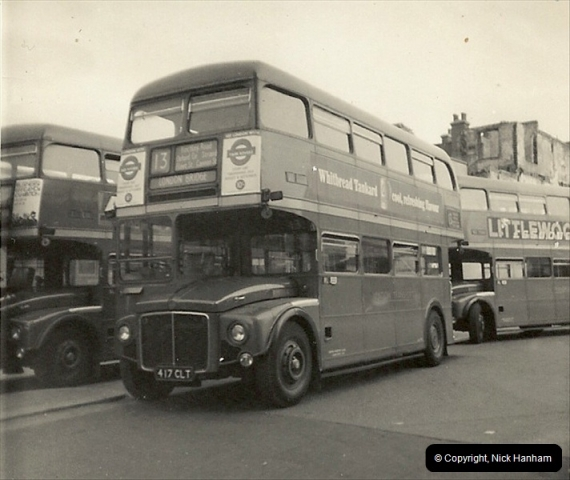 London Buses 1963 to 2007.  (1) 001