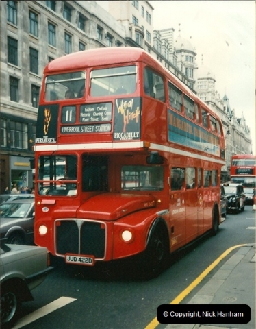 London Buses 1963 to 2007.  (112) 112