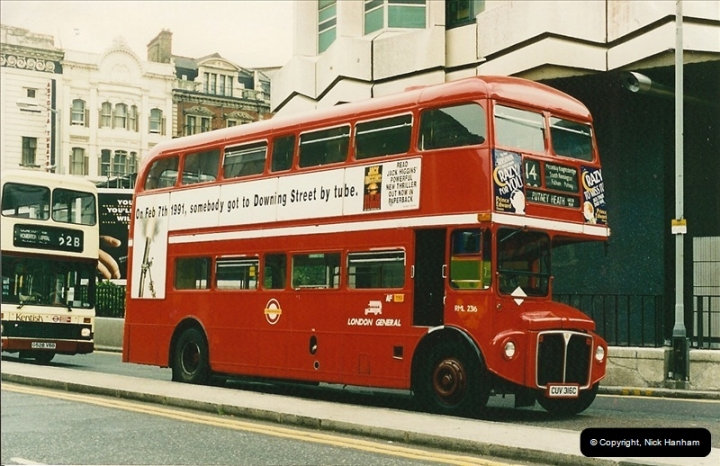 London Buses 1963 to 2007.  (116) 116