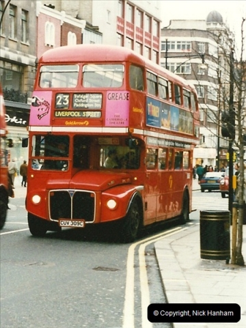 London Buses 1963 to 2007.  (133) 133