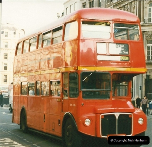 London Buses 1963 to 2007.  (134) 134